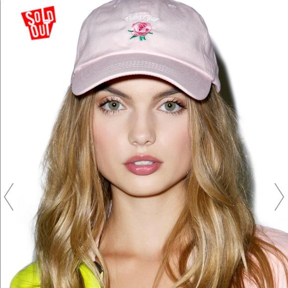 e26507efdb9 Dolls Kill Accessories - Baby Girl Dad Hat Cap Pink rose EUC one size sun